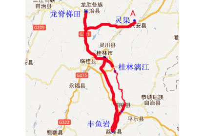 荔浦旅游景点地图