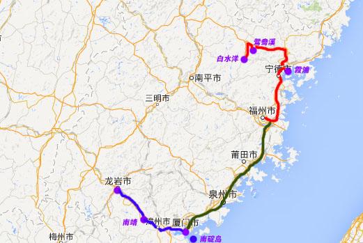 霞浦县乡镇地图